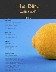 Blind Lemon Beer List