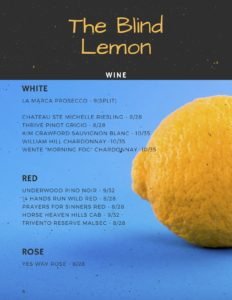 Blind Lemon Wine List