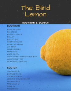Blind Lemon Bourbon and Scotch List